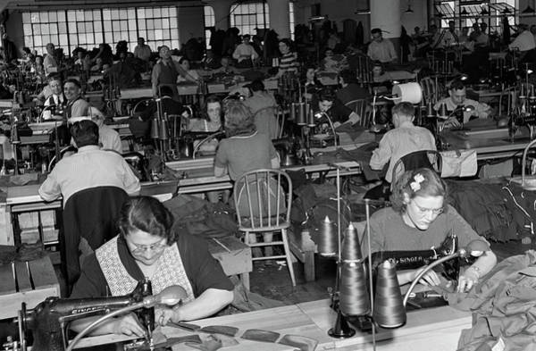 Wall Art - Photograph - 1930s 1940s Sweatshop With Workers by Vintage Images