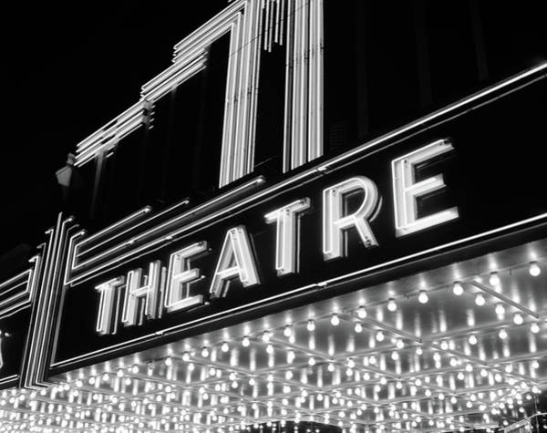 Wall Art - Photograph - 1930s 1940s Theater Marquee Theatre by Vintage Images