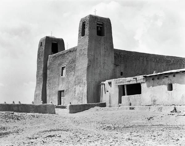 Acoma Photograph - 1930s Adobe Building Architecture by Vintage Images