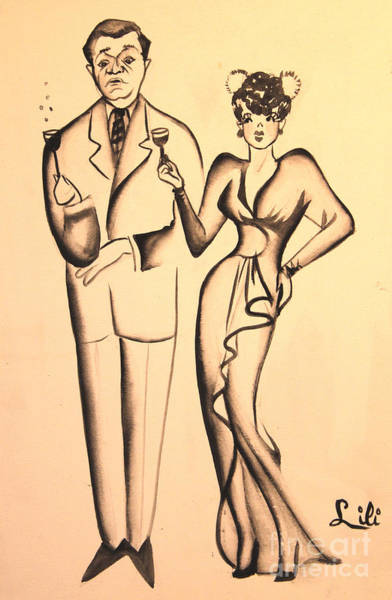 Drawing - 1930s Couple On The Town by Art By Tolpo Collection