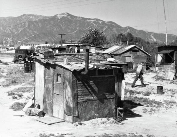 Trailer Photograph - 1930s Great Depression Shanty Town by Vintage Images