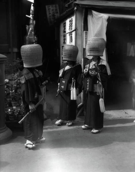 Buddhist Temple Wall Art - Photograph - 1930s Japanese Mendicant Holy Men by Vintage Images