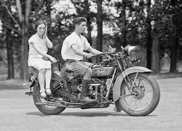 Motion Photograph - 1930s Motorcycle Touring by Daniel Hagerman