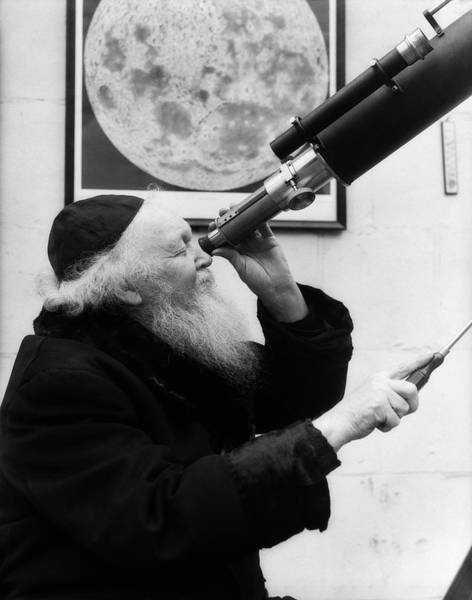 Goatee Photograph - 1930s Old Astronomer White Hair by Vintage Images
