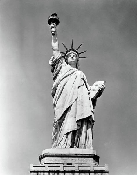North Coast Harbor Photograph - 1930s Statue Of Liberty Ny Harbor Ellis by Vintage Images