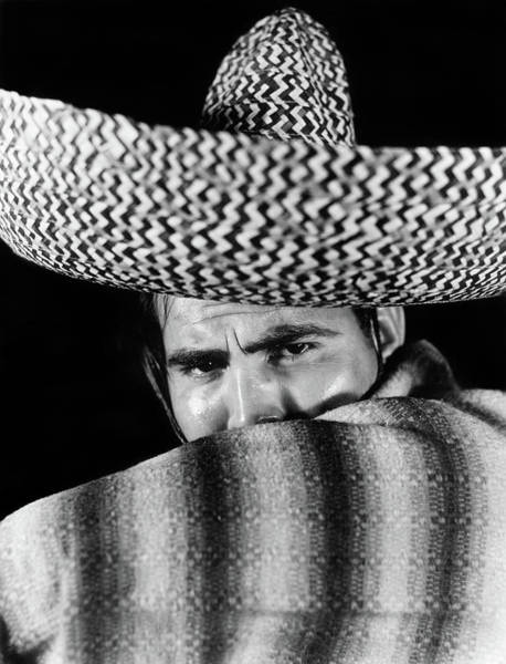 Poncho Wall Art - Photograph - 1930s Stereotype Portrait Mexican Man by Vintage Images