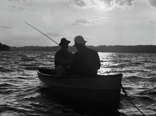 Angling Photograph - 1930s Two Anonymous Men Wearing Hats by Vintage Images