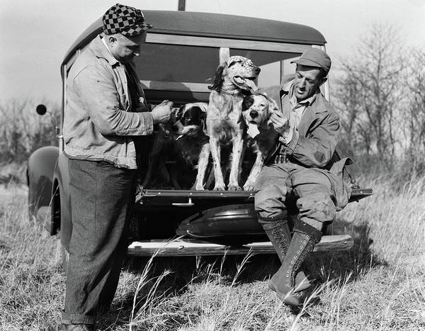 Setters Photograph - 1930s Two Men In Hunting Clothes by Animal Images