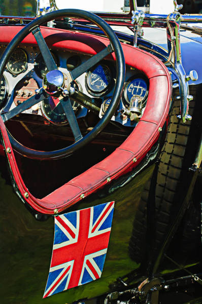 Photograph - 1931 Bentley 4.5 Liter Supercharged Le Mans Steering Wheel -1255c by Jill Reger