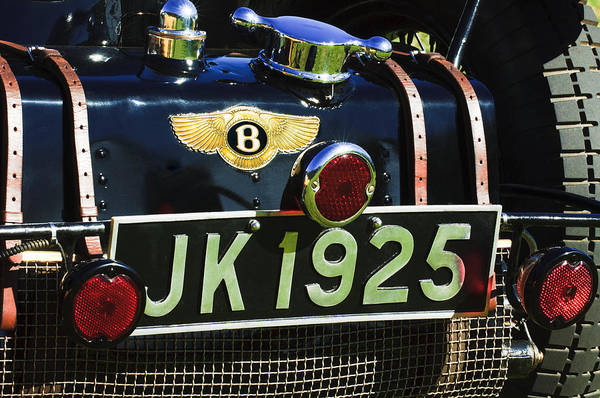 1931 Photograph - 1931 Bentley 4.5 Liter Supercharged Le Mans Taillight Emblem by Jill Reger