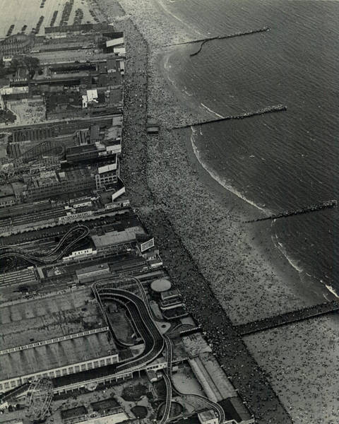 1931 Photograph - 1931 Coney Island Looks Like Fun by Retro Images Archive