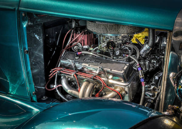 Photograph - 1931 Ford 5 Window Coupe Engine by David Morefield