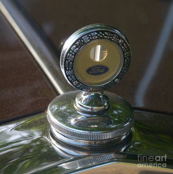 Photograph - 1931 Ford Coupe Hood Ornament by Mark Dodd