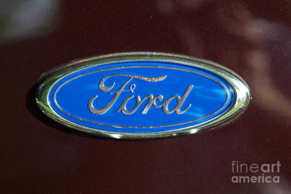 Photograph - 1931 Ford Coupe Logo by Mark Dodd