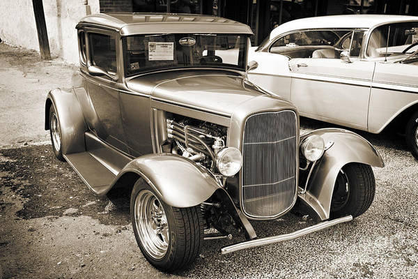 Photograph - 1931 Ford Model A Classic Car Complete In Sepia 3211.01 by M K Miller