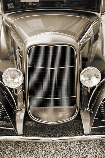 Photograph - 1931 Ford Model A Classic Car Front End In Sepia 3215.01 by M K Miller
