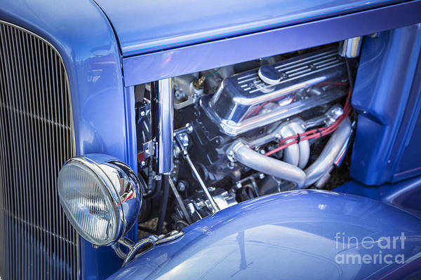 Photograph - 1931 Ford Model A Engine Classic Car In Color 3213.02 by M K Miller