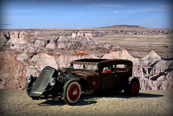 Photograph - 1931 Ford Sedan Rat Rod by Tim McCullough