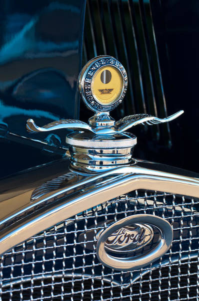 1931 Photograph - 1931 Model A Ford Deluxe Roadster Hood Ornament by Jill Reger