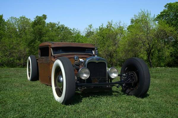 Photograph - 1931 Model A Ford Rat Rod Pickup by Tim McCullough