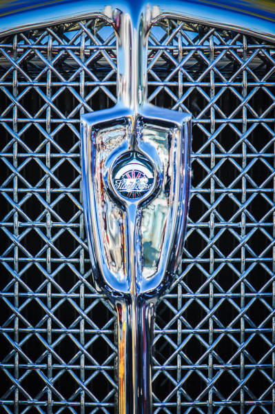 Photograph - 1931 Studebaker President Four Seasons Roadster Grille Emblem by Jill Reger