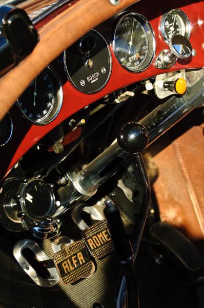 Photograph - 1932 Alfa Romeo 6c 1750 Series V Gran Sport Dashboard by Jill Reger