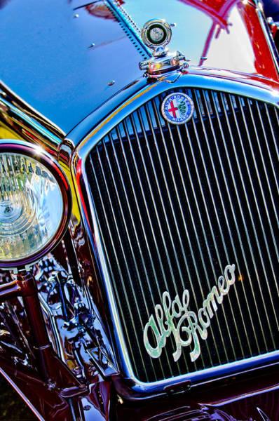Photograph - 1932 Alfa Romeo 6c 1750 Series V Gran Sport Grille Emblems by Jill Reger
