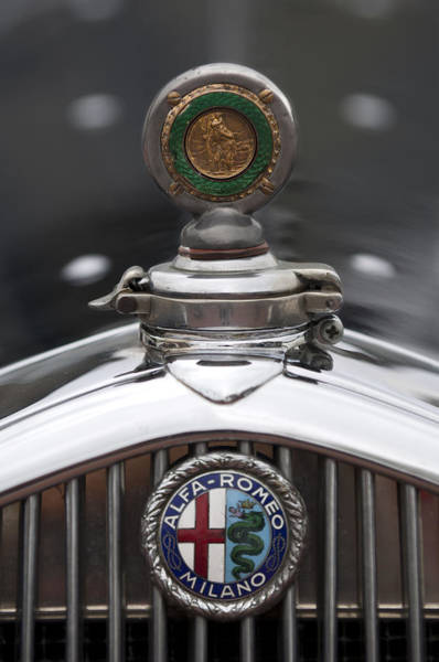 Photograph - 1932 Alfa-romeo Hood Ornament 2 by Jill Reger
