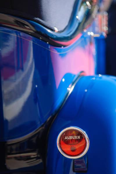 1932 Photograph - 1932 Auburn Twelve Custom Phaeton Taillight Emblem by Jill Reger