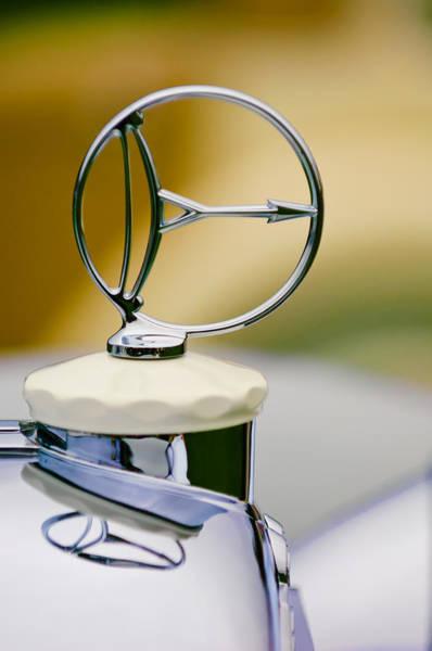 1932 Photograph - 1932 Austro Daimler 635 Armbruster Sport Bergmeister Cabriolet Hood Ornament by Jill Reger