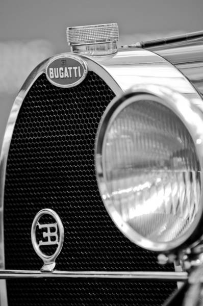 1932 Wall Art - Photograph - 1932 Bugatti Type 55 Cabriolet Grille Emblems by Jill Reger