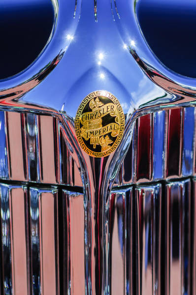 Ch Wall Art - Photograph - 1932 Chrysler Ch Imperial Cabriolet Grille Emblem by Jill Reger
