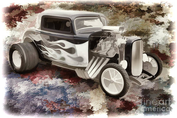 Painting - 1932 Ford Highboy Automobile Painting In Color  3123.02 by M K Miller