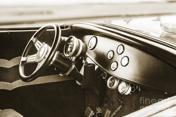 Photograph - 1932 Ford Highboy Dashboard Car Automobile In Sepia  3108.01 by M K Miller