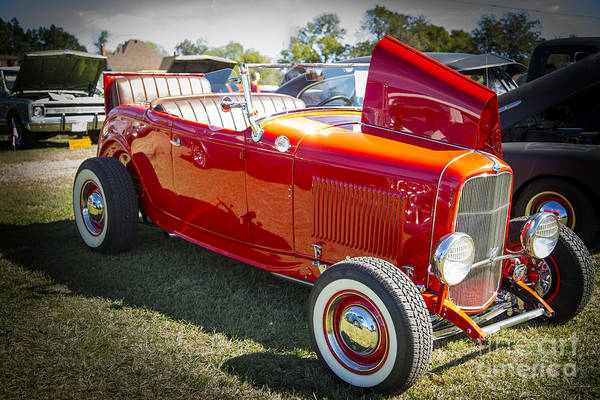 Photograph - 1932 Ford Roadster Automobile Classic Car In Color  3059.02 by M K Miller