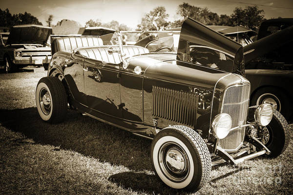 Photograph - 1932 Ford Roadster Automobile Classic Car In Sepia  3059.01 by M K Miller