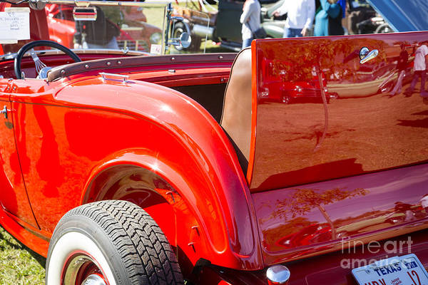 Photograph - 1932 Ford Roadster Rumble Seat Automobile Classic Car In Color   by M K Miller