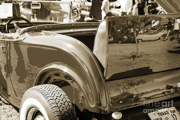 Photograph - 1932 Ford Roadster Rumble Seat Automobile Classic Car In Sepia   by M K Miller