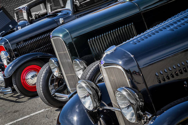 Photograph - 1932 Ford Roadster Coupes With Louvered Hoods by Ron Pate