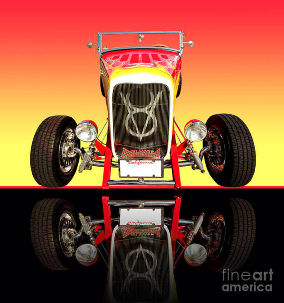 Wall Art - Photograph - 1932 Front Ford V8 Hotrod by Jim Carrell