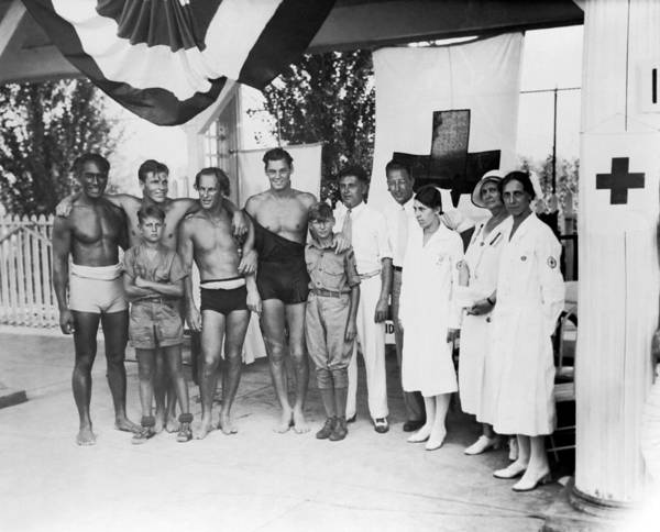 Clarence Photograph - 1932 Olympic Swimming Tryouts by Underwood Archives