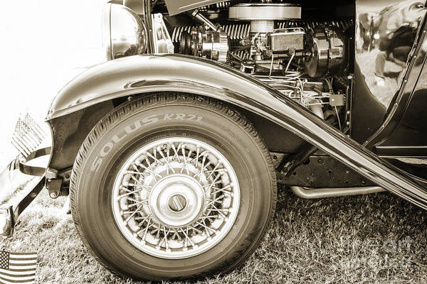 Photograph - 1932 Plymouth Front Fender In Sepia 3047.01 by M K Miller