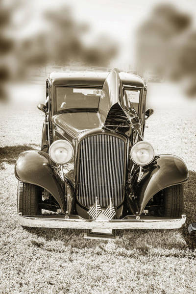 Photograph - 1932 Plymouth Front View In Sepia 3044.01 by M K Miller