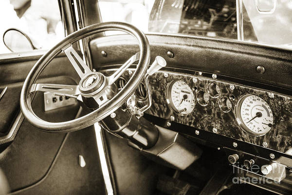 Photograph - 1932 Plymouth Interior In Sepia 3050.01 by M K Miller