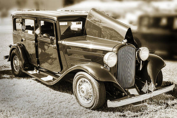 Photograph - 1932 Plymouth With Suicide Doors In Sepia 3043.01 by M K Miller