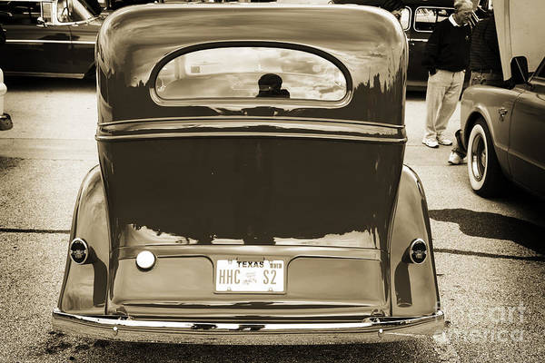 Photograph - 1933 Chevrolet Chevy Sedan Classic Car Back In Sepia 3172.01 by M K Miller