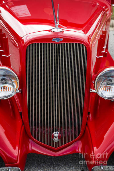 Photograph - 1933 Chevrolet Chevy Sedan Classic Car Grill In Color 3167.02 by M K Miller