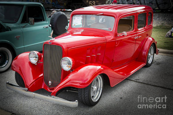 Photograph - 1933 Chevrolet Chevy Sedan Classic Car In Color 3165.02 by M K Miller