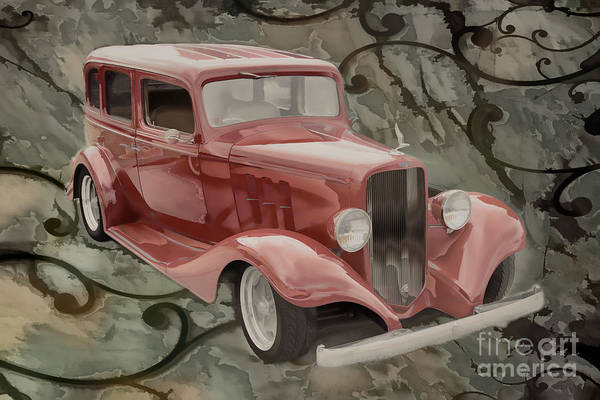 Painting - 1933 Chevrolet Chevy Sedan Classic Car Painting In Color  3160.0 by M K Miller