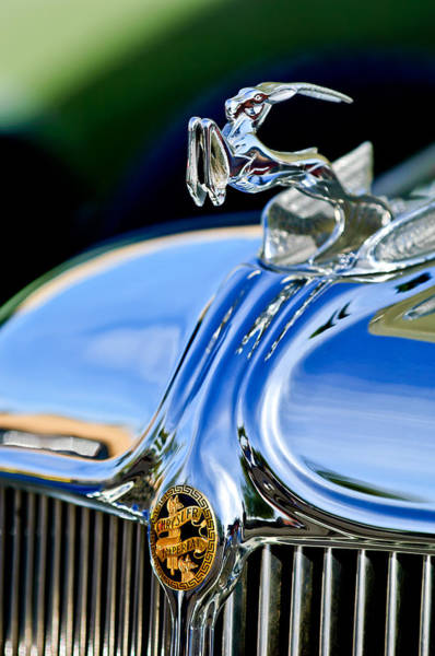 Photograph - 1933 Chrysler Imperial Hood Ornament 3 by Jill Reger